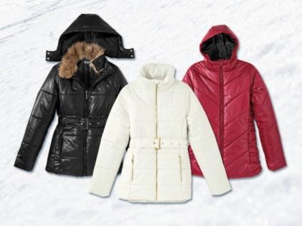Damen Winterjacke Gr. 38 weiß mit Gürtel Kurzmantel Mantel Parka Freizeit Jacke