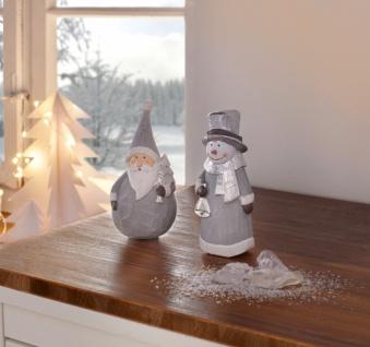 2er Deko Figur 'Winterduo? Weihnachtsmann Weihnachtsdeko Nikolaus Schneemann