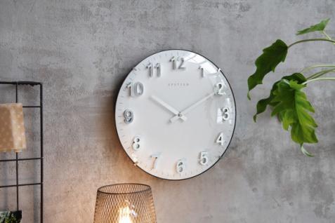 Metall Uhr 'Pure? Wand Deko Modern Küche Wohnzimmer batteriebetrieben