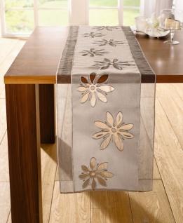 TischlÄufer 'organzablüte' 40x160 Polyester Tischband Tischdecke Tischdeko - Vorschau