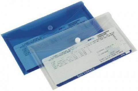 50x Rexel Dokumenten Tasche blau DIN lang Verschluß Rechnungs Lieferschein Mappe