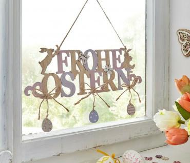 "Hänger ?Frohe Ostern"" aus Holz Deko Wand Tür Fenster Mobile Verzierung Osterdeko - Vorschau 2"