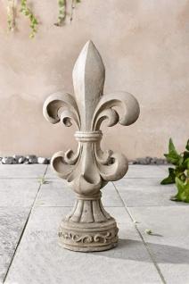 Französische Lilie im Shabby Antik Stil, 47 cm hoch, Garten Deko Figur Skulptur