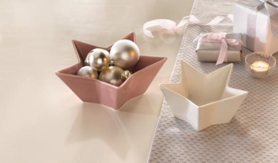 Porzellan Weihnachten.2er Sternschale Malve Weihnachten Weihnachtsdeko Porzellan Winter Schale