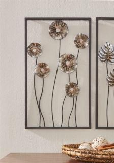 """3D Wand Bild """" Blume"""" aus Metall, 30x50 cm, Wand Schmuck Deko Verzierung Blüten"""