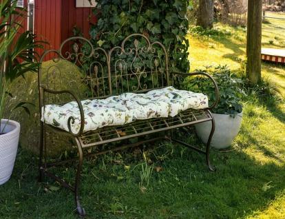 "Sitzbank "" Provence"" aus Metall, braun, Antik Design, Garten Park Eisen Bank"