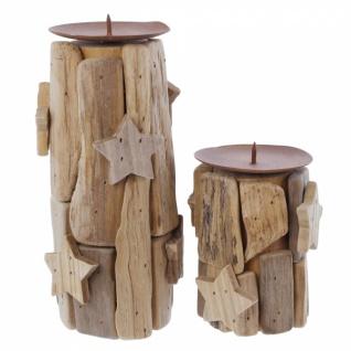 2er Kerzenhalter Sternchen Kerzen Halter Ständer Windlicht Weihnachten Teelicht - Vorschau 2