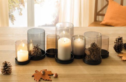 Kerzenständer kerzenhalter holz glas edel natur handmade kerze