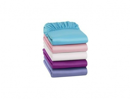 Jersey Spann Bettlaken 90-100 x 200 cm, pink, Betttuch bis 25 cm Matzratzen Höhe