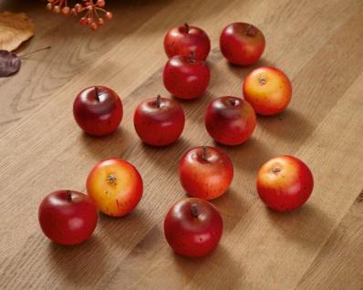 """12er Set Apfel ?Rot"""" aus Kunststoff Deko Figur zum Basteln Dekorieren Verzierung"""