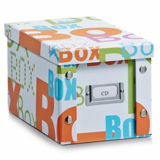 """2x ZELLER CD BOX """" Box"""" mit DECKEL für 20 CD's AUFBEWAHRUNG KISTE KARTON CASE"""