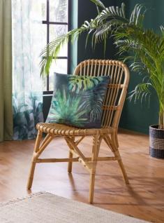 """Rattan Stuhl """" Retro"""", natur lackiert, Küchen Esszimmer Wohnzimmer Balkon Korb"""