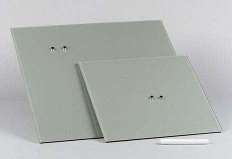 "Corkline Glas Magnet Tafel "" Chrystallo"" hellgrau 50x50 cm, Pinn Wand Memo Board"