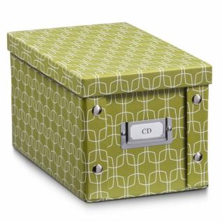 """2x Zeller CD Box """" Texture"""" pistazie für 20 CD's Aufbewahrungs Kiste Karton Case"""