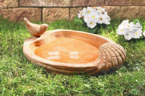 Terracotta Vogeltränke, mit Deko Vogel, Garten Futter Stelle Bad Wasser Tränke