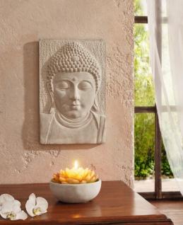 WAND BILD ''Buddha? in grau im ASIA-LOOK HÄNGER SCHMUCK DEKO