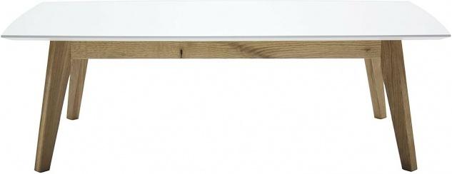 TENZO Couchtisch BESS Eiche massiv / weiß, 120x60 cm, skandinavisches Design 2W