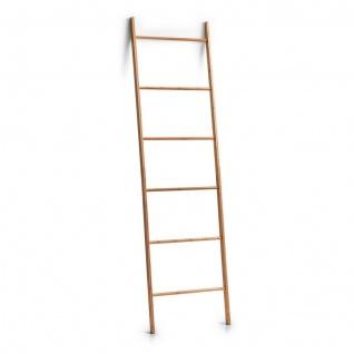 Zeller Bambus Leiter, 182cm, Handtuch Halter Kleider Ständer Pflanzen Regal Holz