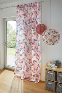 """Deko Schal """" Flowers"""" Pastell Blüten, 140 x 240 cm, Schlaufen, Gardine Vorhang"""