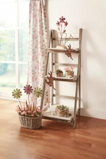 Klapp Regal aus Holz, Shabby Style weiß / braun, 3 Böden, Blumen Pflanzen Treppe
