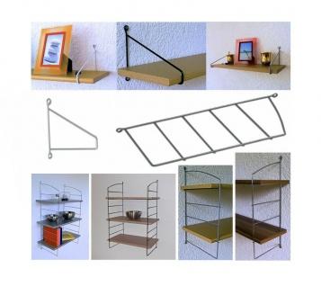 Draht Leiter ALBA Größe / Farbe wählbar Regal Wand Halter Halterung Boden Träger