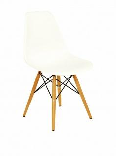 EVERGREEN HOME Design Stuhl mit Schalen Sitz in creme, Küchen Esszimmer