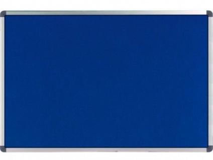 NOBO Elipse Filz Tafel blau 45x30 Alu Rahmen silber Pinnwand Memo Notiz Board