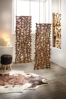 """Deko Objekt """" Rustikal"""" aus Rattan & Holz, Raumteiler Paravent Wand Bild Skulptur - Vorschau 1"""