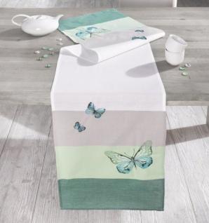 """TISCHLÄUFER """" Butterfly"""" 40x160cm POLYESTER TISCHDEKO TISCHDECKE TISCHBAND"""