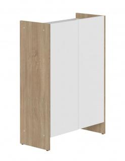 SYMBIOSIS Bad Schrank BIARRITZ Eiche / weiß, 2 Türen, Kommode Unterschrank Möbel