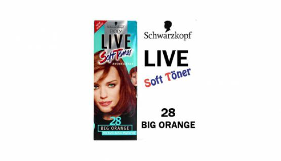 2x SCHWARZKOPF Poly Live Soft Töner 28 Big Orange TÖNUNG HAAR FARBE COLORATION