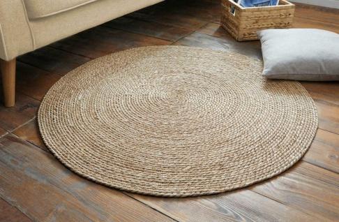 """Teppich """" Natur"""" aus Maisstroh geflochten, braun, rund, Ø 100 cm, Boden Matte"""