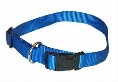 "Hunter Nylon Hunde Halsband "" Vario Plus"" blau 35 - 53 cm Halsung"