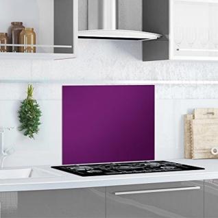 """Küchen Rückwand """" Purple Splash"""" Glas lila, 60x50 Herd Spüle Spritz Schutz Platte"""