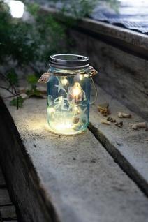 """Windlicht Glas """" Sea"""" mit LED Beleuchtung & Muscheln, maritime Leucht Deko"""