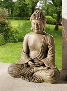 """Buddha """" Meditation"""" 30 cm hoch, buddhistische Deko Figur Skulptur Statue, braun"""