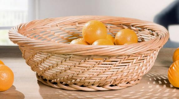 """Geflochtene Schale """" Vollweide"""" 45x15 cm groß Deko Obst Gemüse Büffet Korb Natur"""