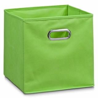 ZELLER AUFBEWAHRUNGSKORB aus VLIES grün 28x28x28 NEU REGALKORB KORB KISTE BOX