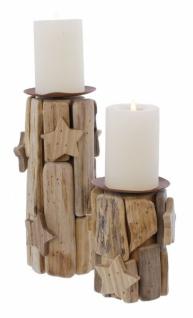 2er Kerzenhalter Sternchen Kerzen Halter Ständer Windlicht Weihnachten Teelicht - Vorschau 4