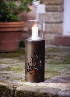 Windlicht 'flamme' Metall Kerzenhalter KerzenstÄnder Laterne Gartenlaterne - Vorschau