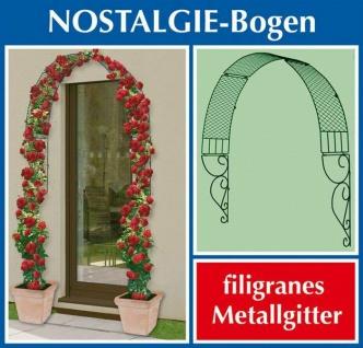 WENKO Rank Bogen NOSTALGIE aus Metall Tür Fenster Rosen Spalier Gitter Hilfe
