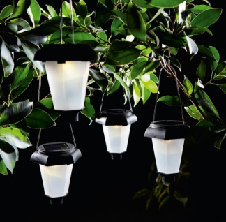 4er Set Solar Hänger 'Laterne? Garten Deko LED Aussen Lampe Strahler Licht