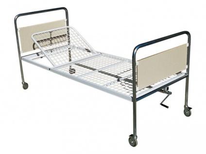 GiMa 27601 Krankenbett Kopfteil verstellbar 85x200 Klink Pflege Patienten Bett #
