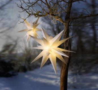 """Deko Hänger """" Winterstern"""", Ø 48 cm, weiß, Advents Weihnachts Stern Baum Schmuck"""