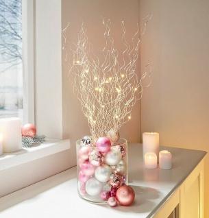 LED Strauch, 20 Lichter, 60 cm hoch, Leucht Deko Strauss Bündel Zweige Kette