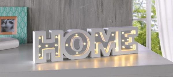 led deko 39 home 39 holz weiss deko schriftzug tischdeko glamour chic warm neu kaufen bei come4buy. Black Bedroom Furniture Sets. Home Design Ideas