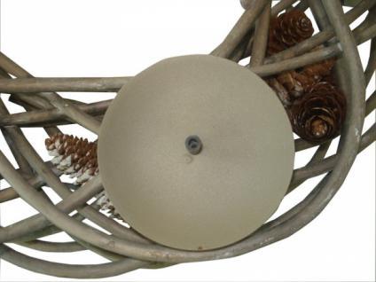 adventskranz tannenzapfen windlicht kerzenhalter. Black Bedroom Furniture Sets. Home Design Ideas