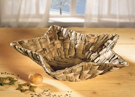 Schale in Stern Form aus Wasserhyazinthe Ø33x7cm, Obst Gebäck Deko Flecht Korb