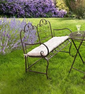 "Sitzbank "" Provence"" aus Metall, braun im Antik Design, Gartenbank, Parkbank"