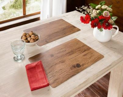 2er Set PVC Platzmatte in Holz Optik, 45x30 cm, Platz Set Decke Tisch Deckchen